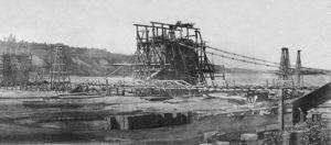 1852 будівництво ланцюгового мосту