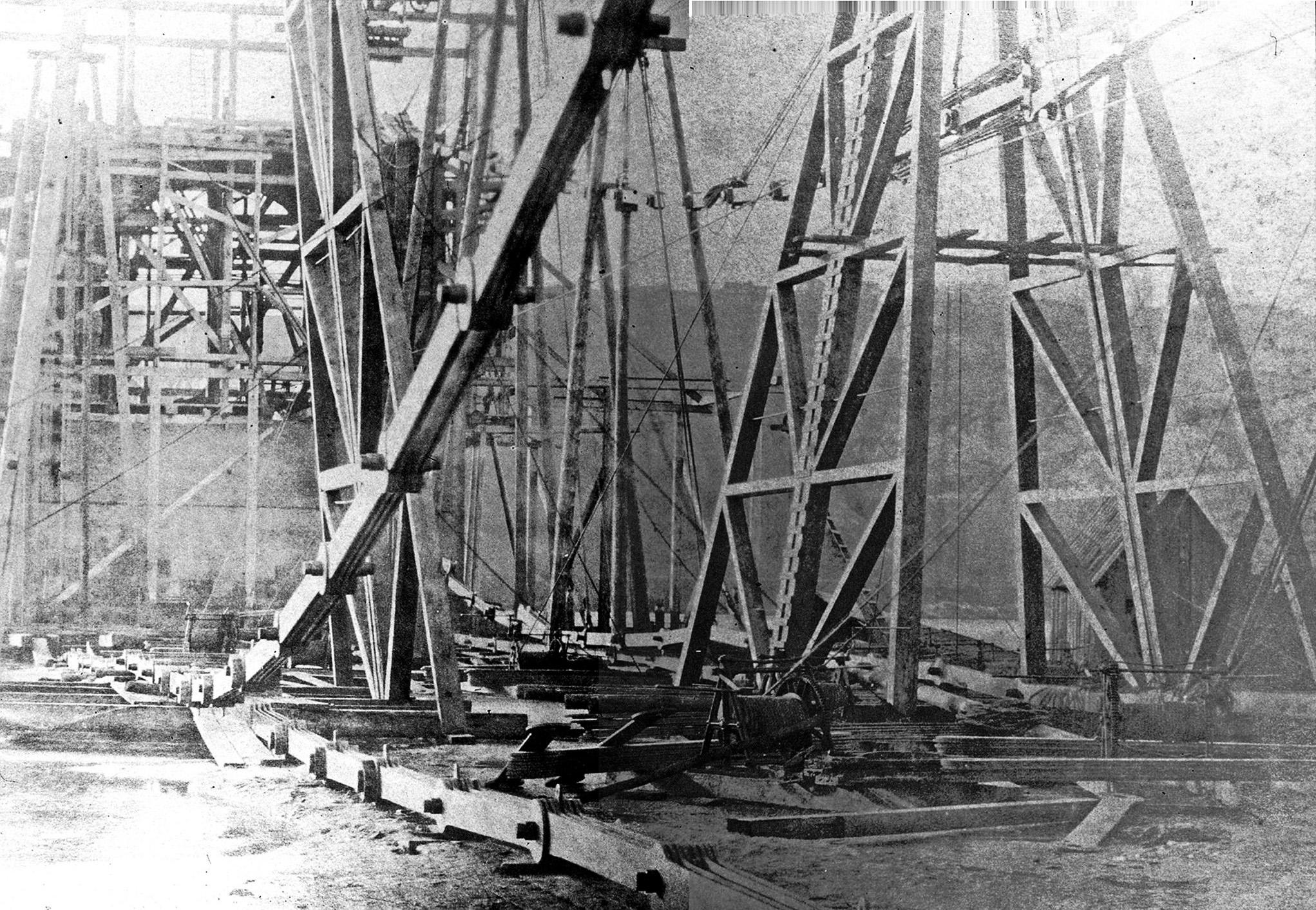 1852 ферми для підйому ланцюгів мосту