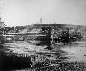 1853 будівництво ланцюгового мосту