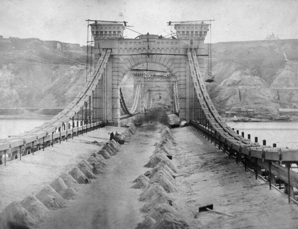 1853 будівництво покриття мосту