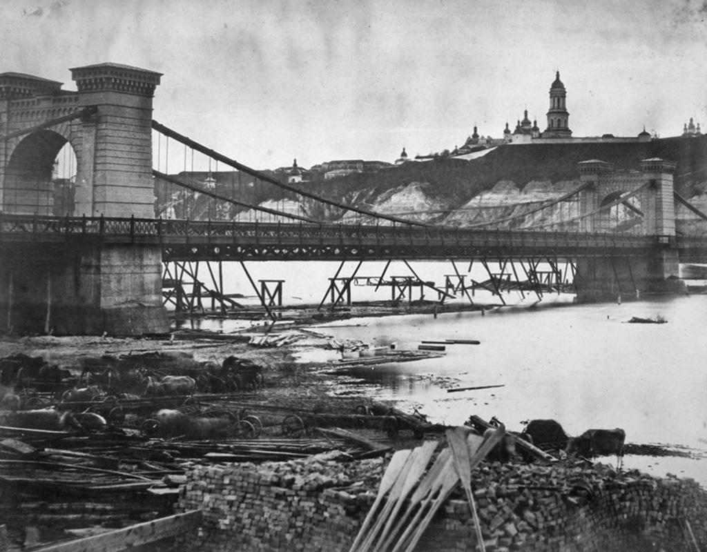 1853 лівобережна частина ланцюгового мосту