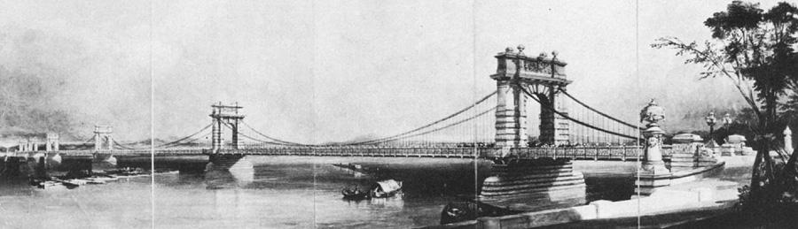 Проєкт ланцюгового мосту у Києві