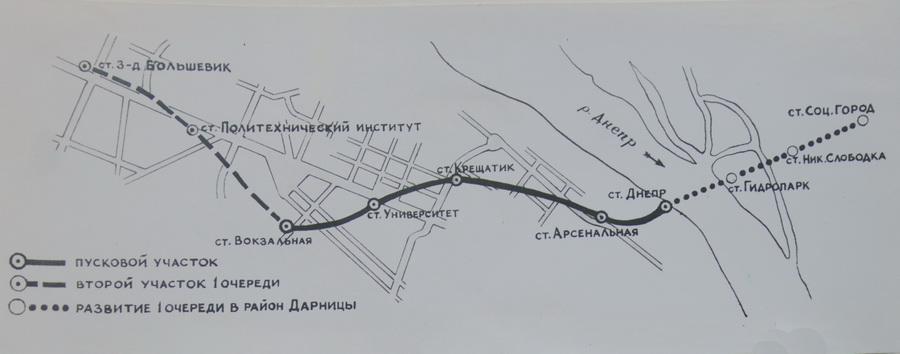 Перша пускова ділянка київського метрополітену